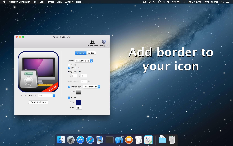AppIcon Generator: Easily create icon for OS X, iOS, watchOS