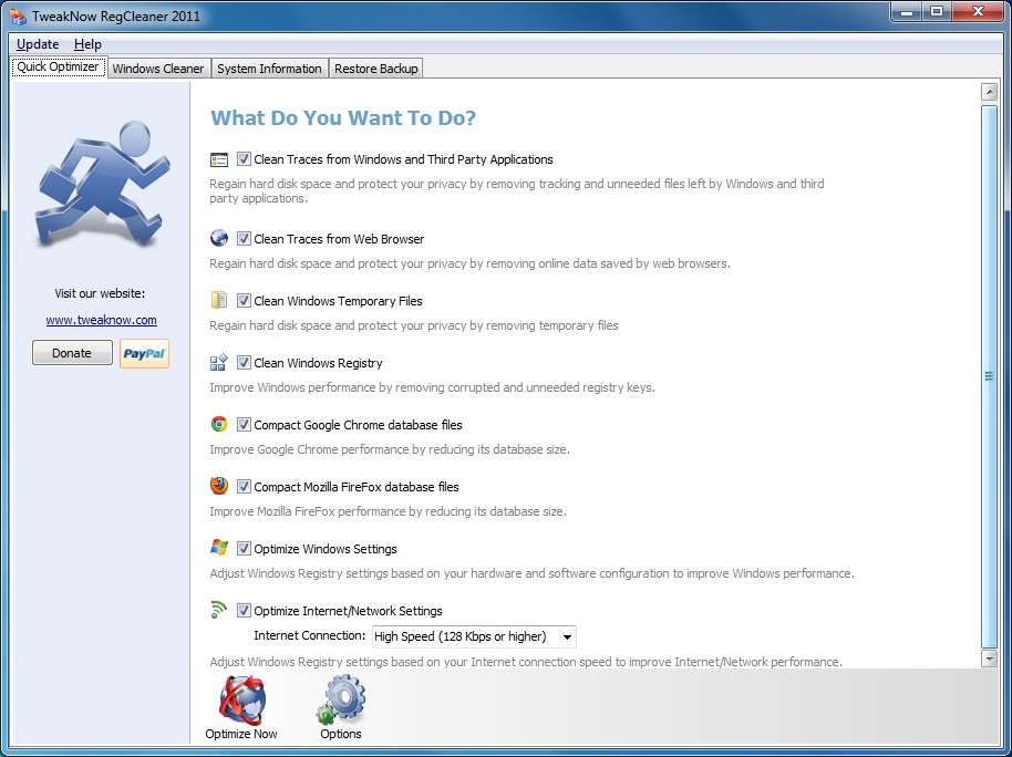 TweakNow RegCleaner 2011 Screen shot