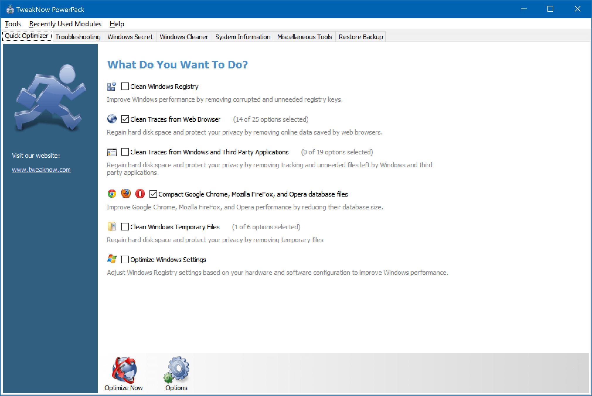 TweakNow PowerPack: A complete tweaking program for Windows